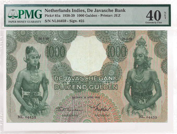 Netherlands Indies 1,000 Gluden note Front