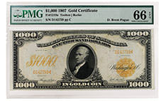 Pogue $1000 1907 Gold Certificate