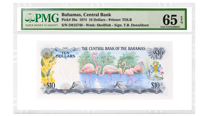 Bahamas Pick# 38a 1974 10 Dollars